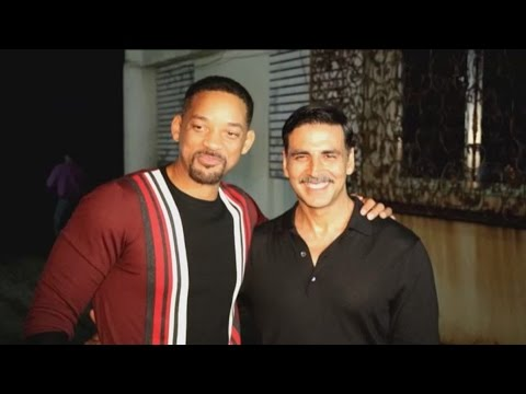 Akshay Kumar With Hollywood Actor Will Smith At Rustom Success Party
