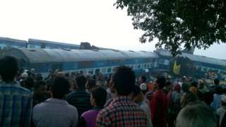 Scores killed as train derails near Kanpur, India