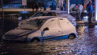 German Baltic coast hit by storm surge flooding