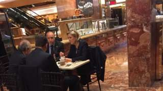 France's Marine Le Pen seen in Trump Tower