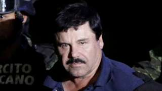 "Drug lord Joaquin ""El Chapo"" Guzman extradited from Mexico to US"