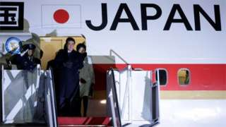Japan PM Shinzo Abe arrives in US for Trump talks
