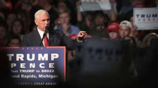 Mike Pence accused of 'staggering hypocrisy' on private email