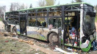 Syria war: 'At least 68 children among 126 killed' in bus bombing