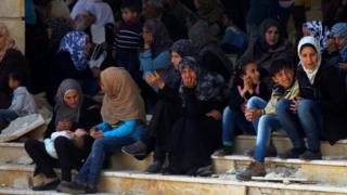 Syria war: Evacuations resume after deadly bombing