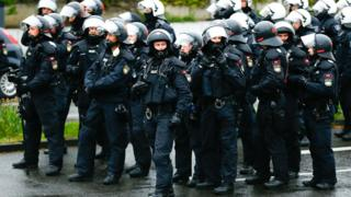 German riot police deployed for AfD Cologne conference