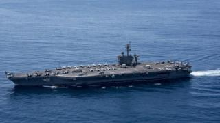 North Korea 'ready to sink' US aircraft carrier Vinson