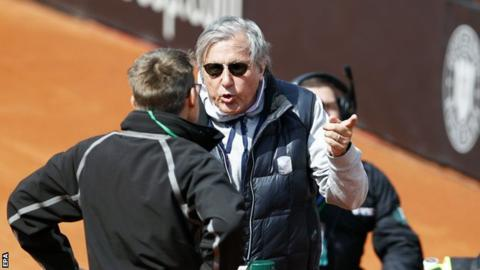 Ilie Nastase: Romania captain is suspended after behaviour at Fed Cup