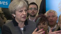 General election 2017: PM says Tories are 'party of lower taxes'
